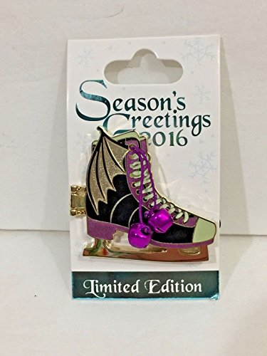 Skate Dragon - Disney Parks 2016 Seasons Greetings Maleficent Dragon Ice Skates LE Pin