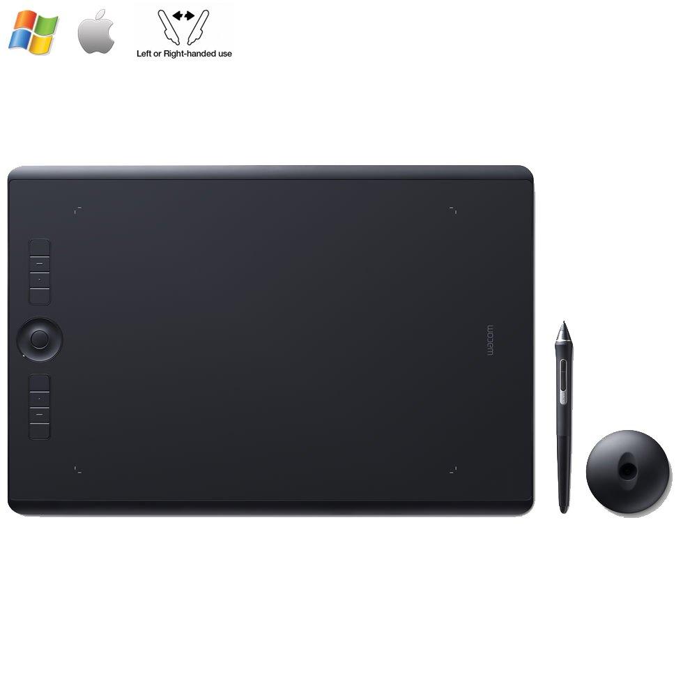Wacom Intuos Pro Medium Creative Pen Tablet,Black PTH660 - (Certified Refurbished)