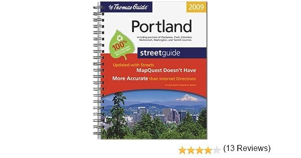 The Thomas Guide Portland Street Guide Rand McNally - Us paper map thomas guide