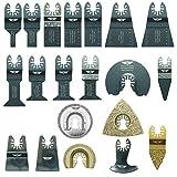 20 x TopsTools FAK20CD Fast Fit OMT Mix Blades for Dewalt Bosch Fein Makita Milwaukee Craftsman Chicago Ridgid Ryobi Rockwell (HyperLock) Porter Cable Multi Tool Accessories