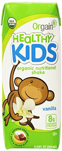 Kids Protein Shake by Orgain, Vanilla, 8.25 oz, (12 ct)