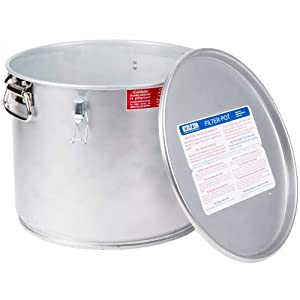 Miroil 40L/02040 35 Lb. Grease Bucket/Filter Pot With Lid