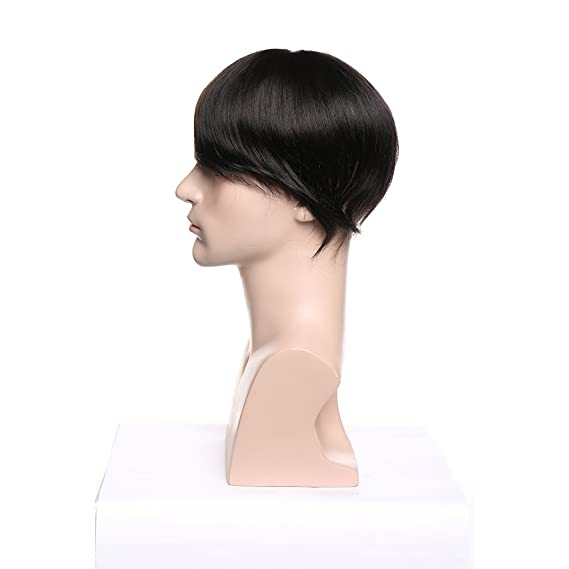 Peluca Hombre Pelo 100% Natural Cabello Humano Indio Invisible y Se Adhiere Bien a la Piel Peluquín Prótesis Capilar Pelucas 6
