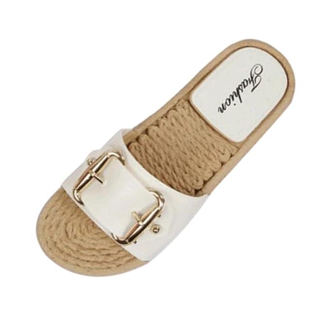 UOMOGO® Estive/per Donna Uomo bambini/Pantofole Aperte Interno Scarpe/con Suola Antiscivolo (Asia 36, Nero)