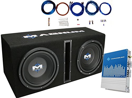 "MTX MB210SP Dual 10"" 400 Watts RMS Loaded Subwoofer Enclosure With Mono Block Amplifier and 8 Ga. Amp Wiring Kit ( 1200 Watts MAX Power )"