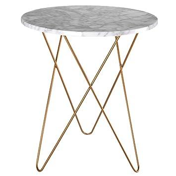 Tables HAIZHEN Pliable Snack Side d\'extrémité avec Dessus en marbre ...