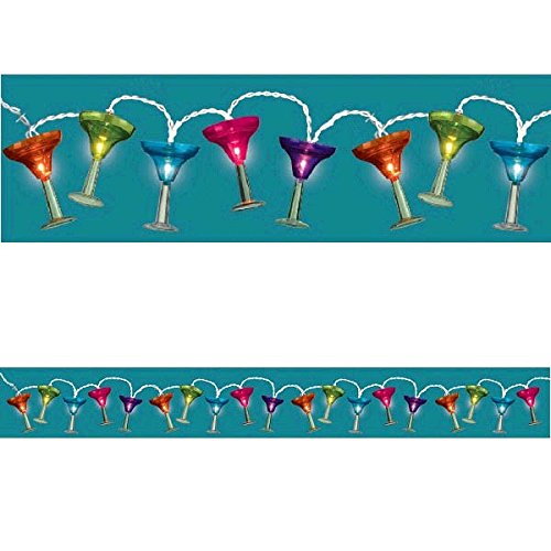 Grasslands Road Multi Color Margarita Glass Patio Light Set, 8-Foot