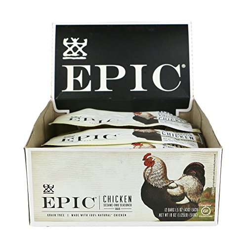 Epic All Natural Meat Bar, Chicken, Sesame & BBQ, 1.5 oz. (12 Count)