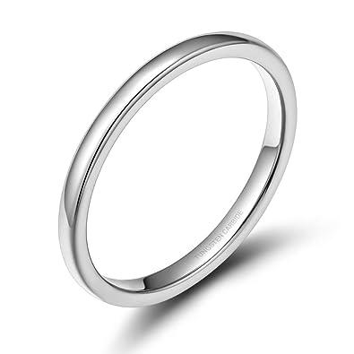 Amazon.com: Rugewelry - Alianza de boda de carburo de ...