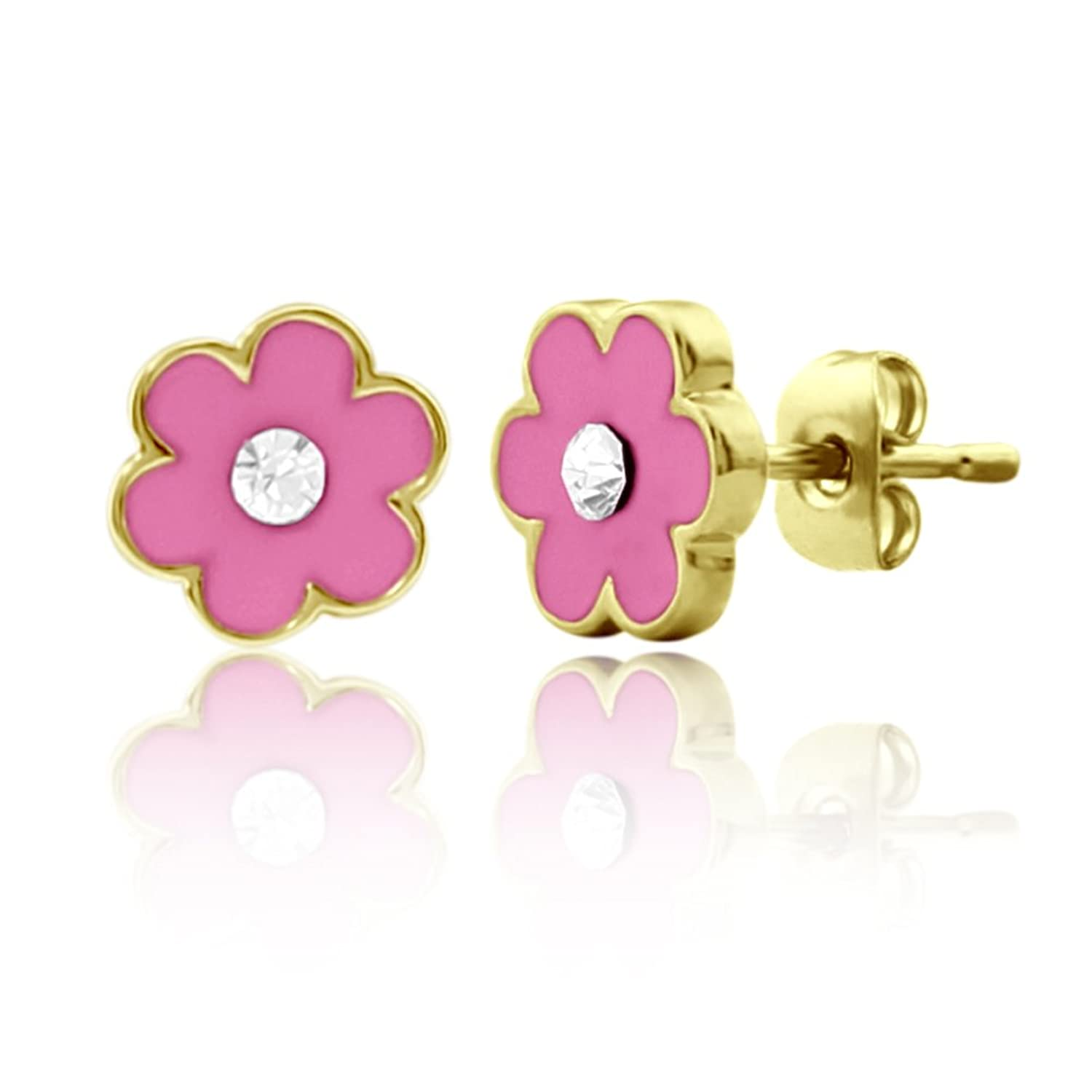 and stud tiffany co gold big flower pin earrings diamond