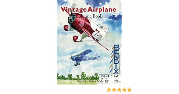 - Amazon.com: Vintage Airplane Coloring Book (9781882663071): King, Richard:  Books