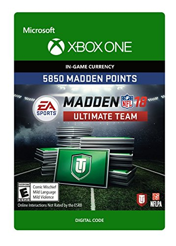 Madden 18 - 5850 Ultimate Team Points - Xbox One [Digital Code] by Electronic Arts