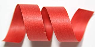 "product image for 100% Biodegradable Natural Ribbon | 33 Solid Colors | Ribbon for Crafts | Cotton Curling Ribbon | Holiday Ribbon | Wrapping Ribbon | Eco-Friendly Ribbon (Bittersweet, 1/2"" x 50 Yards)"