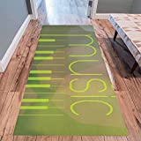 InterestPrint Home Contemporary Make Music Design Modern Runner Rug Carpet 10'x3'3''
