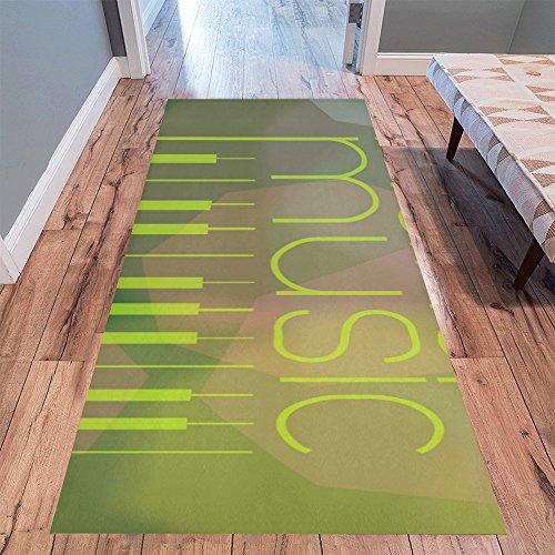 InterestPrint Home Contemporary Make Music Design Modern Runner Rug Carpet 10'x3'3'' by InterestPrint
