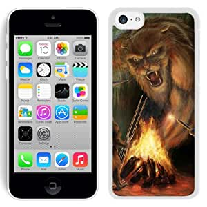 Beautiful And Unique Designed With Cat Mouse Bonfire Weapon Forest (2) For iPhone 5C Phone Case