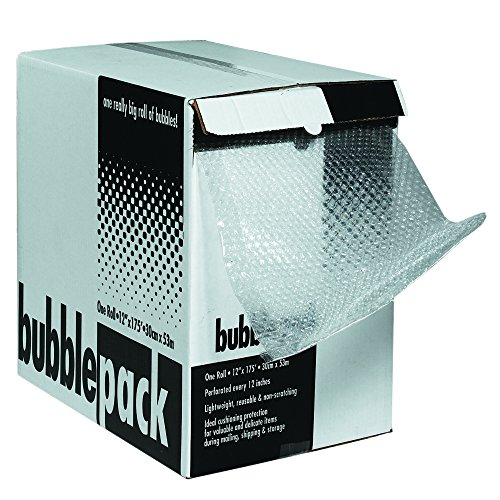 Partners Brand PBD51624MS Cushion Bubble Dispenser Pack for Moving and Packing, 24'' Width x 100'L, 5/16'' Bubble Height, Clear by Partners Brand