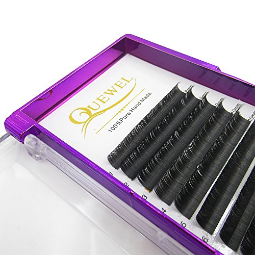 Handmade Soft Natural Mink Eyelash Extensions 0.07 Curl C/D Length From 6MM To 18MM Soft Individual Lashes Tray For Eyelash Extensions(0.07 C Curl, 15mm)