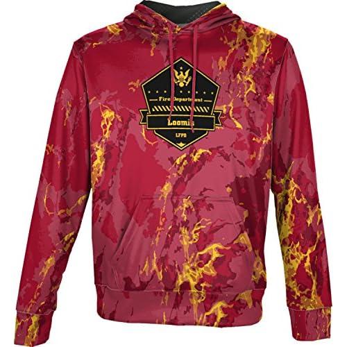 top ProSphere Boys' Loomis Fire Protection District Fire Department Marble Hoodie Sweatshirt