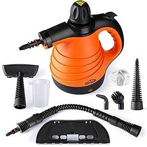 SIMBR Limpiador a Vapor de Mano, Vaporeta de Limpieza Hogar 1050W, Limpiador portátil de Usos Múltiples con Tanque de… 512BNVumvmL