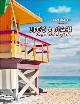 Amazon Lifes A Beach Grayscale Coloring Book 9781548478728 Karlon Douglas Books