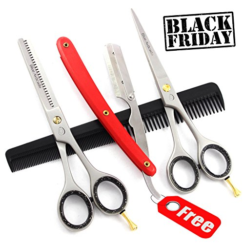 Brandneu Profi Haarschneideschere Haarschere Friseurschere Effilierschere Friseur Schere mit frei aufspüren PORTO