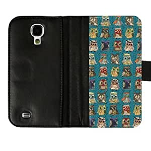 Personalized Styles of Owl Custom Diary Leather Cover Case for SamsungGalaxyS4 I9500-Credit Card Holder