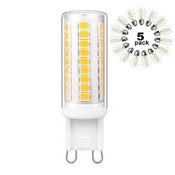 G9 LED Bombillas De Ahorro De Energía-5W 58 Luz, 40 Vatios Bombilla Halógena