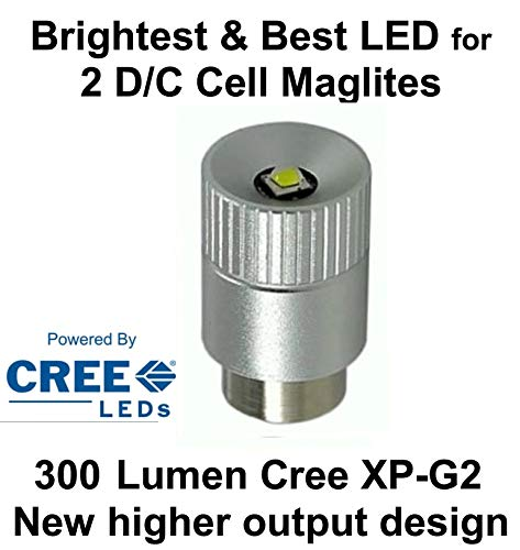Maglite LED Conversion Upgrade Cree XP-G2 Bulb 2 D or C Cell Flashlights by UpLED ()