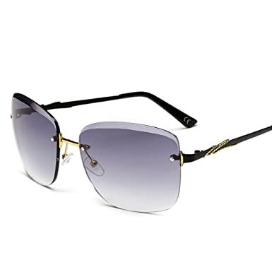 56dc30e7b3e BVAGSS Vintage Rimless Sunglasses Women Gradient Fashion Ladies Sun Glasses  Female (No Frame With Gradient Lens)  Amazon.co.uk  Clothing