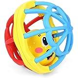 Onior 1ピース赤ちゃんガラガラボール子供ミュージカルハンドシェーカーベルソフトラバーギフト玩具