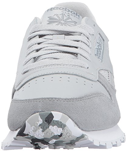 Reebok Mens Cl In Pelle Moda Sneaker Skull Grey / Tin Grey / White / Ash Grey / Primal Red