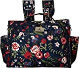 JuJuBe Classical Convertible Multi-Functional Diaper Backpack/Messenger Bag, Classic Collection - Midnight Posy