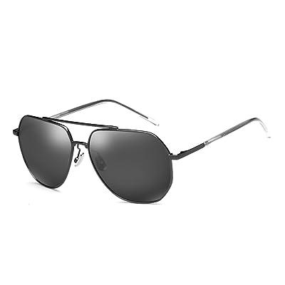 LXKMTYJ Fort à la mode des lunettes de soleil et optique Décalage rétro coloré Lunettes de conduite des lunettes de vision de nuit, Boîte noire avec languettes noires