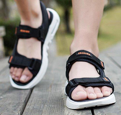 Walking Cinturino DANDANJIE Sandali in Spring Velcro Sandali Uomo Walking Open nero Toe con Outdoor Walking Sports per da Infradito gATPg