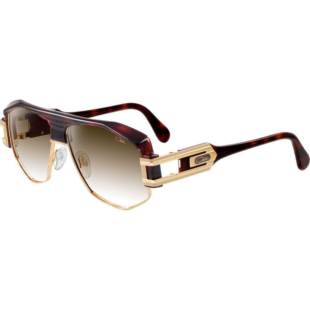 7bb0ab39099 Amazon.com  Cazal 671 Sunglasses 080SG Glossy Dark Brown Gold   Brown  Gradient 59 mm  Clothing