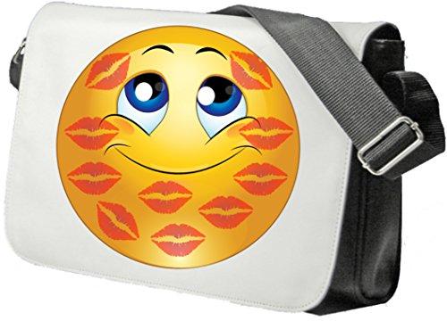 Schultertasche Verknutschtes Gesicht Schultasche, Sidebag, Handtasche, Sporttasche, Fitness, Rucksack, Emoji, Smiley