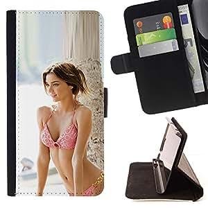 Momo Phone Case / Flip Funda de Cuero Case Cover - Miranda Kerr;;;;;;;; - Sony Xperia Style T3