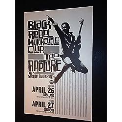 Black Rebel Motorcycle Club BRMC Rapture Portland Oregon Concert Tour Gig Poster