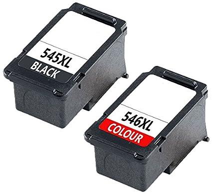Prestige Cartridge PG-545XL CL-546XL Pack de 2 Cartuchos de Tinta compatibles para Canon Pixma iP2840 iP2850 iP2855 MG2450 MG2455 MG2550 MG2555 MG2920 ...