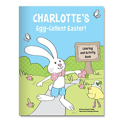 Personalized Coloring Activity Book for Easter Basket Stuffer -