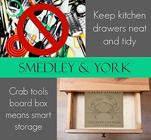 Crab And Lobster Crackers And Picks Four Guest Set – Nautical Crab Board Box Included For Smart Storage And Care by Smedley and York (Image #5)