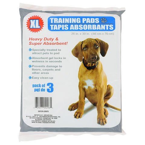 Doggy XL Heavy Duty Pet Training Pads, 3-ct. Packs Dog
