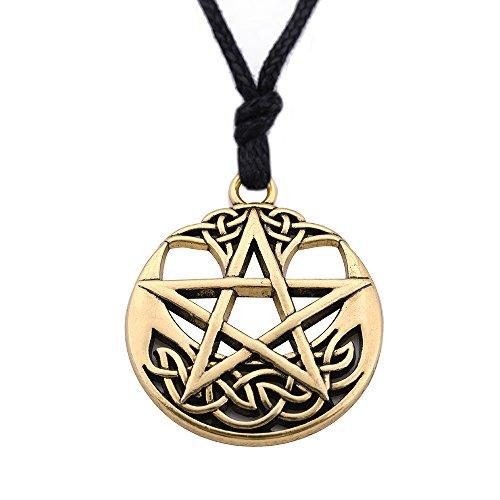 EUEAVAN Pagan Pentacle Celtic Knot Talisman for Love Pendant Necklace (Style - Love Pendant Talisman
