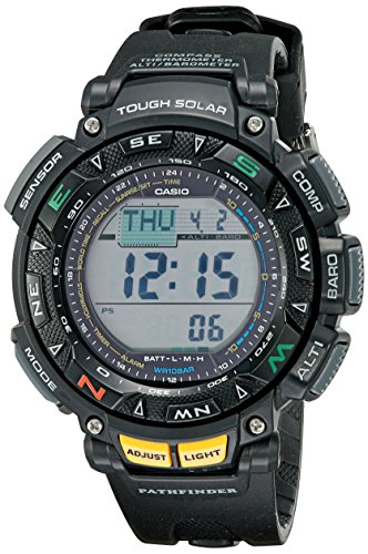 (Casio Men's Pathfinder PAG240-1CR Solar Powered Triple Sensor Sport Watch)
