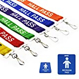 Hall Pass Lanyards with Card Passes,Unbreakable