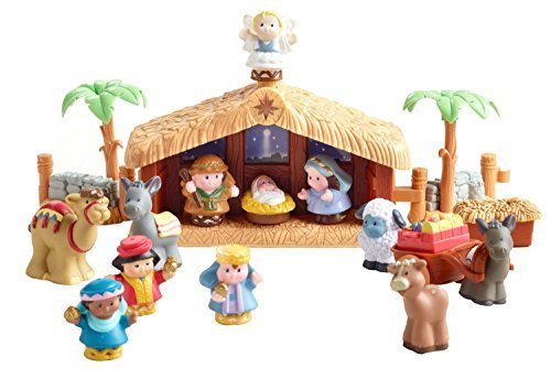 NEW Little People Christmas Story Nativity with Lights and Sounds Home Decor by Fisher-Price