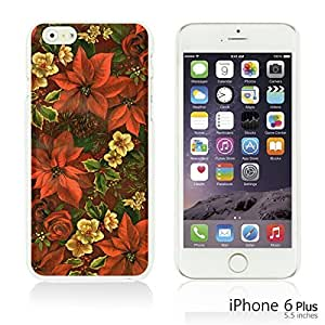 OnlineBestDigital - Flower Pattern Hardback Case for Apple iPhone 6 Plus (5.5 inch) Smartphone - Red Flower