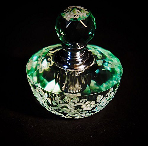 Mini Crystal Perfume Bottle, Flowers Series XVI