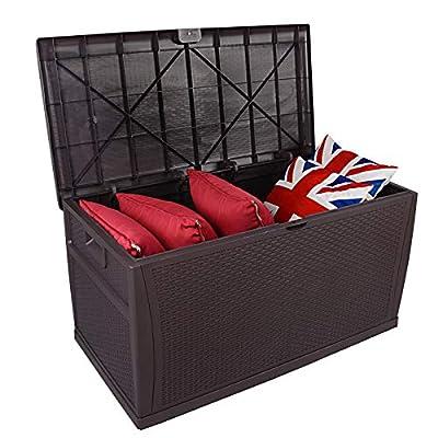 SA Rattan Effect Plastic Garden Storage Box XL
